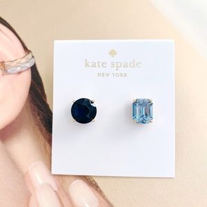 NWT Kate Spade Mismatched Faceted Stud Earrings